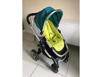 Icandy peach stroller/carrycot and car seat