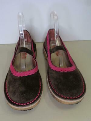 CAMPER women's brown & pink suede round toe mary jane shoes 37/6.5-7 Camper Mary Jane Shoes