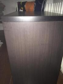 Small wooden cabinet from ikea black/brown