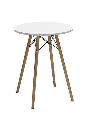 Tisch aus Holz # Esszimmertisch rund # Esstisch WEISS Bistrotisch Küchentisch