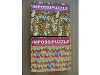 TWO DISNEY IMPOSSIPUZZLE JIGSAW PUZZLES ALL COMPLETE
