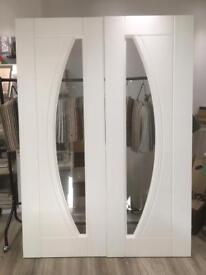 Pair of UPVC Internal glazed doors