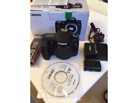 Canon EOS 70D Digital SLR Camera with 18-55 IS STM Lens - Complete with cable, manuals and charger