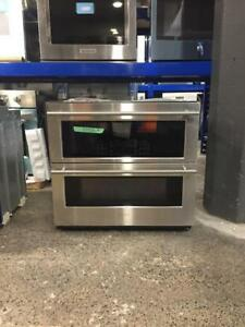 Four double encastré 30 po, convection véritable, stainless