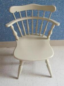 Ethan Allen Swivel Chair Alabaster White Paint On Maple