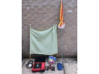 Camping gear including box - great for summer