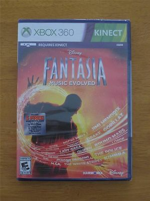 Xbox 360 Fantasia  Music Evolved  New   Sealed  Includes 3 Free Song Downloads
