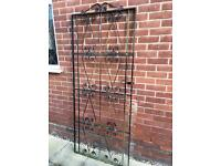 Metal gate, tall single opening 3 foot wide