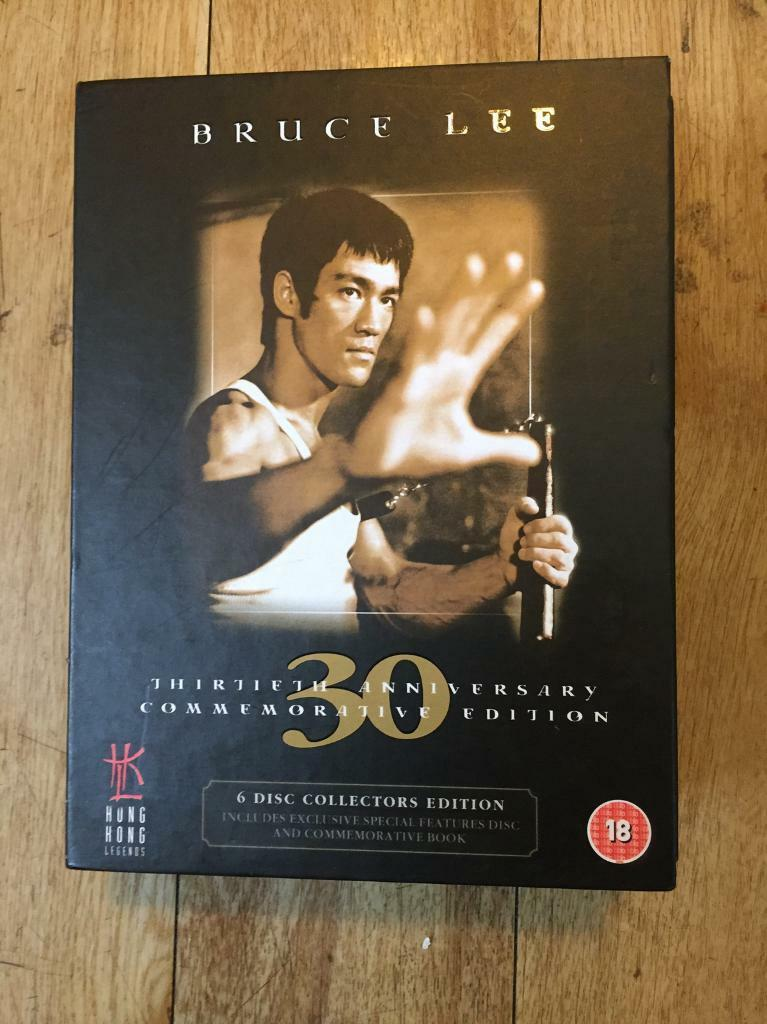 Bruce lee 30th anniversary ltd ed dvd set as new