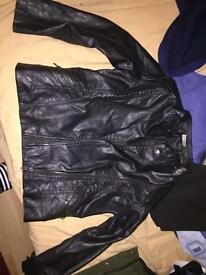 Childs leather jacket