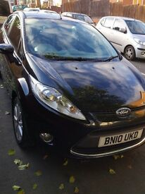 Ford Fiesta 1.25L Zetec, 2010 plate, FSH, Black, Bluetooth and Rear parking sensors