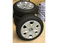 4 x Goodyear UltraGrip 7+ 195/55 R16 87H Winter Tyres with Steel Wheels/BMW Trim