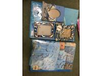2 dolphins single bed covers never used 3 picture frames