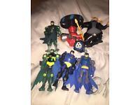 BATMAN SUPER HERO FIGURE BUNDLE LOT SET