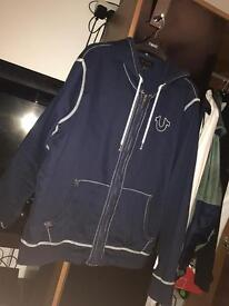 True religion hoody, blue size large
