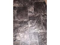 Lino dark colour tile effect £30