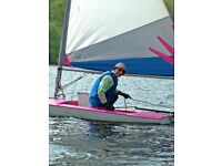 Topper Sailing Dingy cover and Launch Trolley