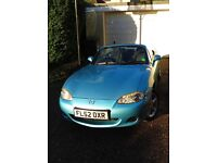 Mazda MX5 convertible, mark 2, 1.6l, splash blue, very good condition