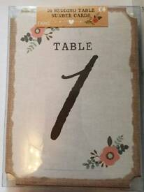 Next rustic table numbers