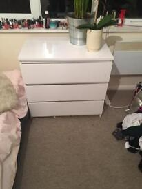 2 White ikea draws for sale Brighton £40 for both or £25 each!