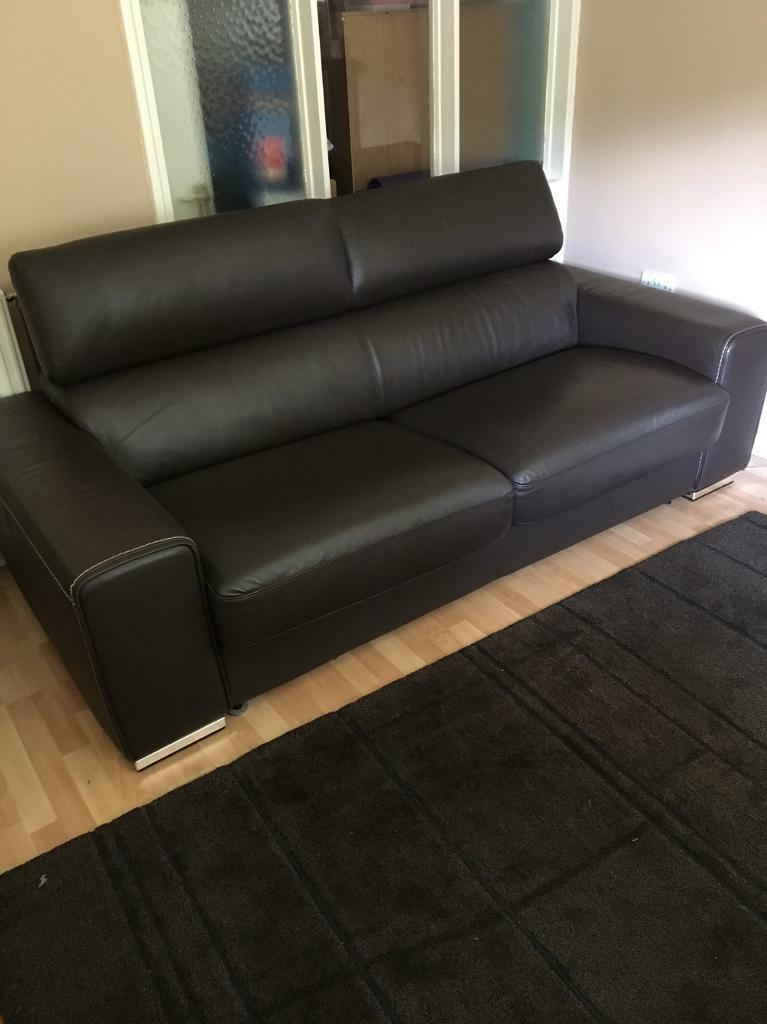 Leather Brown DFS Kalamos Sofabed