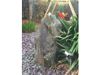 2 x large granite rock water features with drilled hole for fountain