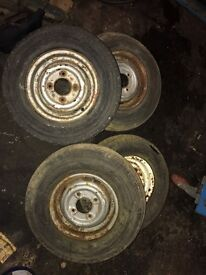 Mini classic rims and tyres 10 inch