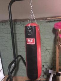 Freestanding Everlast Punchbag as new condition