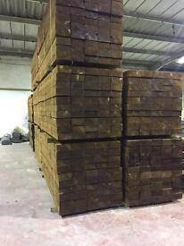 Tanalised timber sleepers