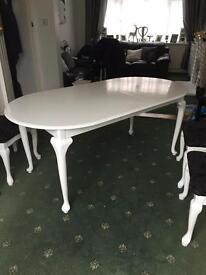 Dinning table, painted wooden