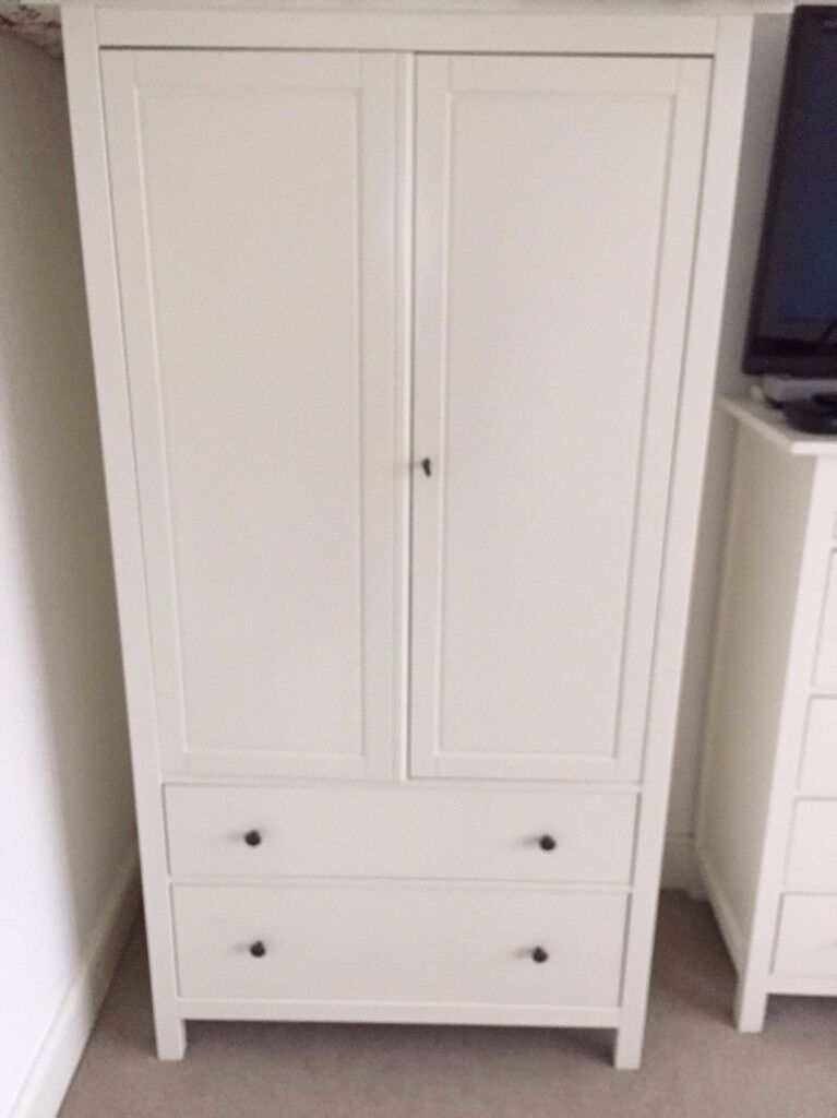 discontinued ikea white hemnes wardrobe collection from. Black Bedroom Furniture Sets. Home Design Ideas