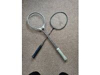 2 Rackets, Wilson and Slazenger