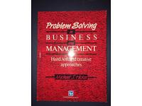 Problem Solving in Business and Management. Michael Hicks