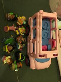 Fisher Price Little People Pink Bus