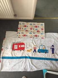Toddler reversible bed spread