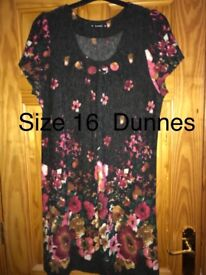 Beautiful dress with flower design size 16