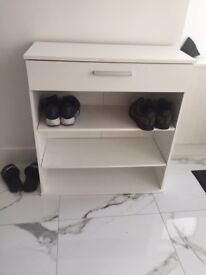 Shoe rack with draw
