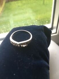 9ct gold I love you ring