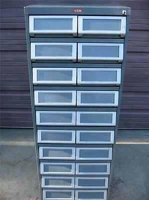 TAB 20 DRAWER TOOLING HARDWARE STORAGE TOOL PARTS FILE CABINET ORGANIZER BINS