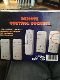 Remote control sockets box of four with remote brand new boxed