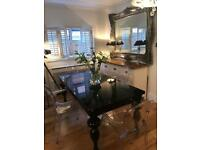 Dining table and 4 ghost chairs