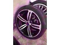 "Bmw single m6 18"" silver alloy wheel CAN POST"