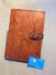 Handmade Goat Leather A4 Book Cover BCDA4 iPad Cover Notebook Folder Compendium
