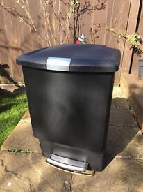 Simple human large pedal bin (estimated) 45litre
