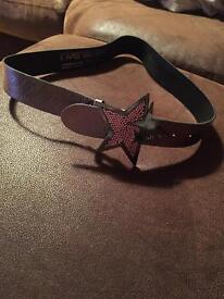 River island belt with star buckle
