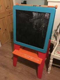 Children's paint and chalk board.
