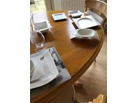 White villeroy & boch china dinner set
