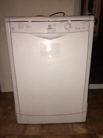 Indesit white dishwasher