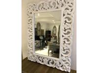White Gloss French Style Mirror new