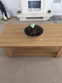 Lovely oak effect coffee table